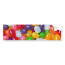 Jellybeans Background - Easter Jelly Beans Bumper Sticker