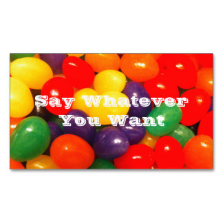 Jellybeans Customizable Business Card Magnet Magnetic Business Cards (Pack Of 25)