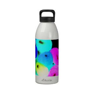 Jellybeans de neón botellas de agua reutilizables