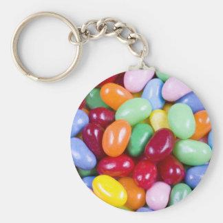 Jellybeans Basic Round Button Keychain