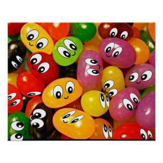 jellybeans sonrientes de la cara posters