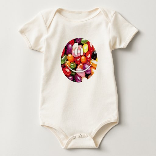 jellybeans sonrientes mameluco de bebé