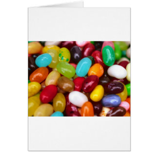 Jellybeans sweet treat greeting cards
