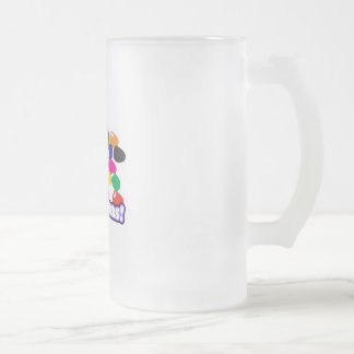 jellybeans with text 16 oz frosted glass beer mug