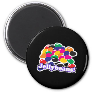jellybeans with text 2 inch round magnet