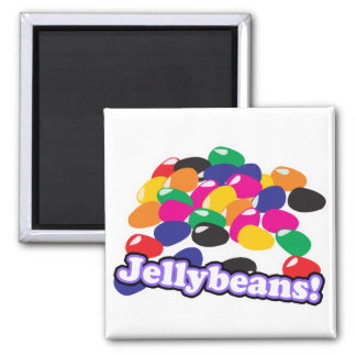 jellybeans with text 2 inch square magnet