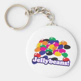jellybeans with text basic round button keychain