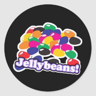 jellybeans with text classic round sticker