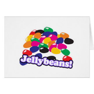 jellybeans with text greeting card