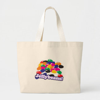 jellybeans with text jumbo tote bag