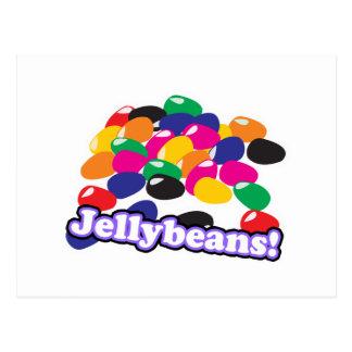 jellybeans with text postcard