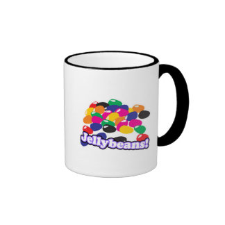 jellybeans with text ringer coffee mug