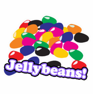 jellybeans with text standing photo sculpture