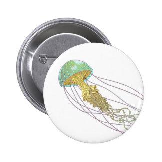 Jellyfish 2 Inch Round Button