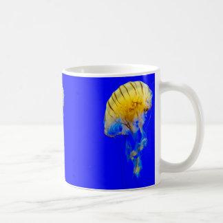 jellyfish-386680 BRIGHT ROYAL BLUE YELLOW COLORFUL Coffee Mug