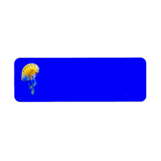 jellyfish-386680 BRIGHT ROYAL BLUE YELLOW COLORFUL Label
