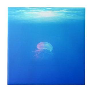 jellyfish-698521 SEA CREATURES ANIMALS BLUE OCEAN Ceramic Tile