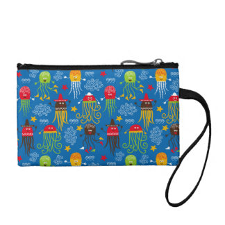 Jellyfish and Octopus Coin Wallet