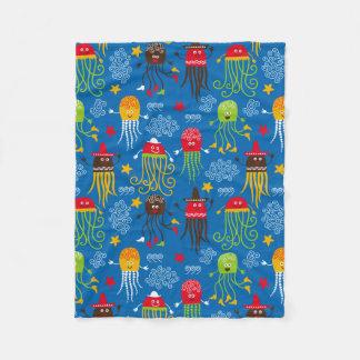 Jellyfish and Octopus Fleece Blanket