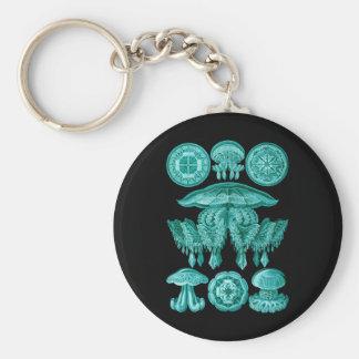Jellyfish Basic Round Button Keychain