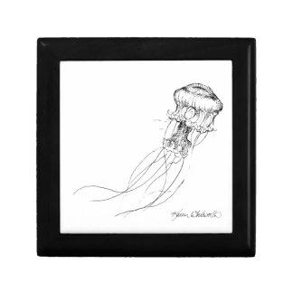Jellyfish Black & White Drawing Gift Box