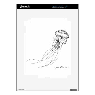 Jellyfish Black & White Drawing Skins For The iPad 2