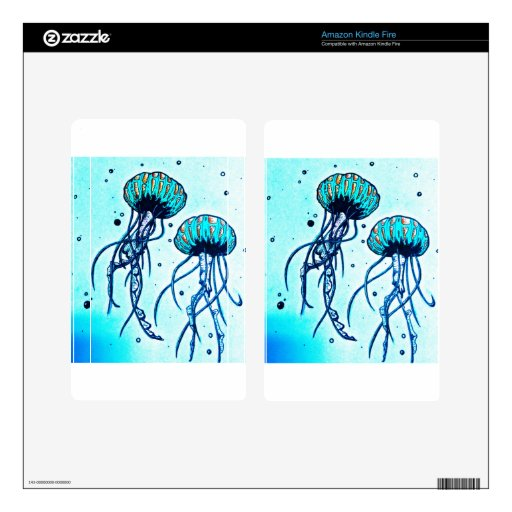 jellyfish blues skins for kindle fire