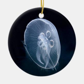 Jellyfish Bright Blue Birthday Christmas Christmas Tree Ornaments