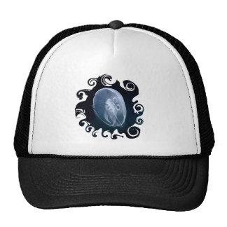 Jellyfish Bright Blue Sports Team Club Cap Trucker Hat