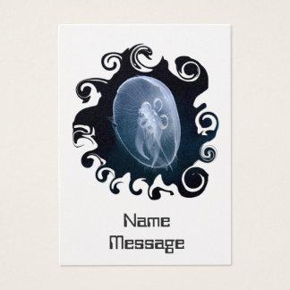 Jellyfish Bright Translucent Blue Bookmark Business Card