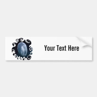 Jellyfish Bright Translucent Blue Bumper Sticker