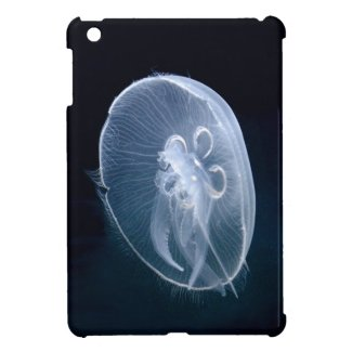 iPad Mini Case with a translucent jellyfish glowing underwater