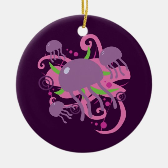 Jellyfish Ceramic Ornament