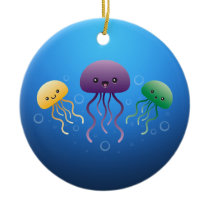 Jellyfish Ceramic Ornament