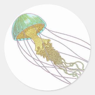 Jellyfish Classic Round Sticker