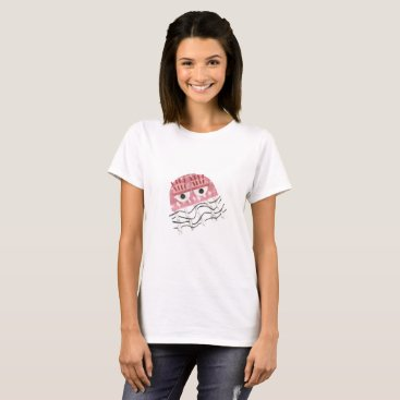 Beach Themed Jellyfish Comb No Background Women's T-Shirt