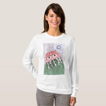 Beach Themed Jellyfish Comb Women's Jumper T-Shirt