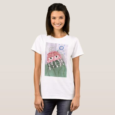 Beach Themed Jellyfish Comb Women's T-Shirt