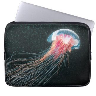 Jellyfish deep sea ocean creature illustration laptop sleeves