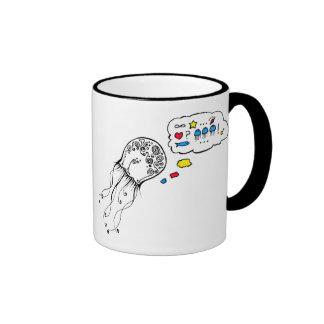 Jellyfish Dreams Ringer Coffee Mug