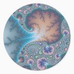 Jellyfish - Fractal Classic Round Sticker