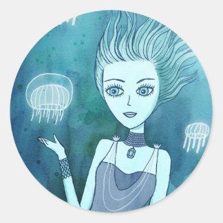 Jellyfish Girl stickers