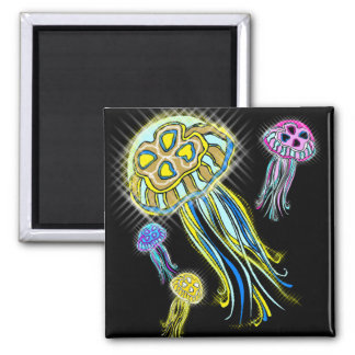 Jellyfish Group 2 Inch Square Magnet