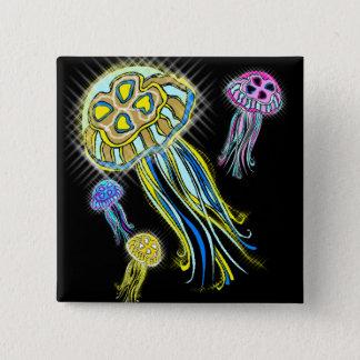Jellyfish Group Pinback Button