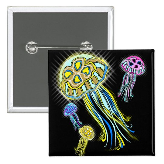 Jellyfish Group Pinback Button