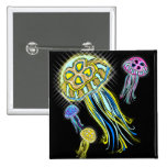 Jellyfish Group Pinback Buttons