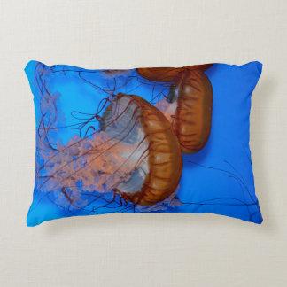Jellyfish in an Aquarium Decorative Pillow