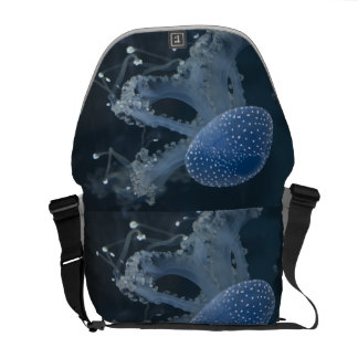 Jellyfish In Blue Messenger Bag