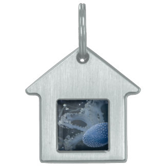 Jellyfish In Blue Pet Tag