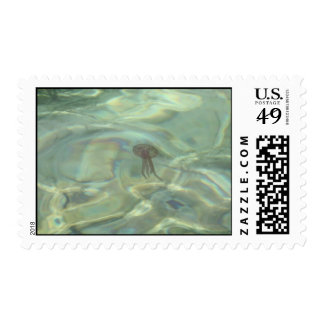Jellyfish in the Sea Postage
